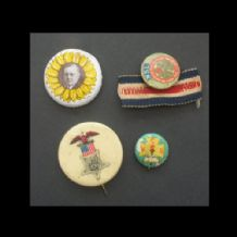 4 OLD American Pinback Button badges Political etc  #048